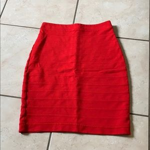 Express Red Pencil Skirt Size 00